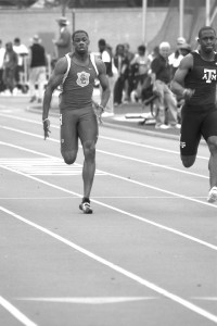 Blazing speed · Ahmad Rashad won the 100-meter (10.13 seconds) and the 200-meter (20.82), while finishing second in the sprint relay. - Dieuwertje Kast | Summer Trojan