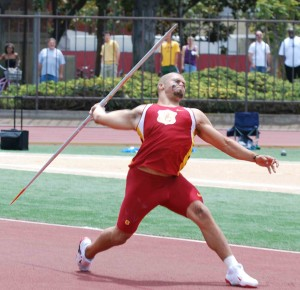 Back for first · One of 16 males to compete for the Trojans, Corey White will throw the javelin, where he finished runner-up last season. - Brandon Hui | Summer Trojan