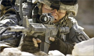 """Straight shooter· Brian Geraghty stars as Specialist Owen Eldridge in the war film """"The Hurt Locker."""" The film also stars Jeremy Renner and Anthony Mackie, and features Ralph Fiennes and Guy Pearce."""