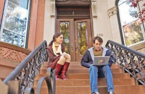 Opposites attract · Adam stars Rose Byrne (left) and Hugh Dancy (right) as an unusual couple who first meet on the stairs of their apartment building. The film premiered at the 2009 Sundance Film Festival, where it won the Alfred P. Sloan Prize and competed for the Grand Jury Prize. - Photo courtesy of Fox Searchlight Pictures