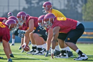 Big assets · The Trojans' offensive line should be one of the deepest in the nation, a huge advantage to whoever ends up playing quarterback. - Ian Elston | Daily Trojan