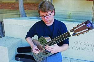 School of rock · (above) Associate Dean Christopher Sampson oversees the school's new pop music program.