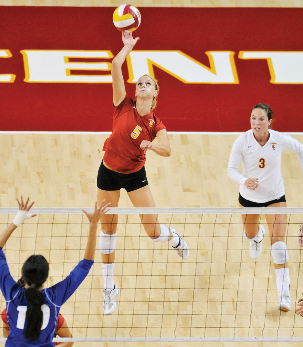 Usc along with co captain alli hilgren eric wolfe daily trojan