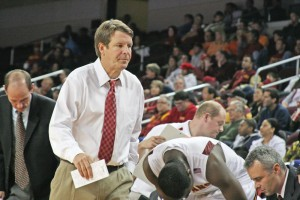 Still waiting · Almost three months after former coach Tim Floyd resigned, the NCAA has yet to make a ruling regarding the investigation. - Dieuwertje Kast | Daily Trojan