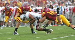 Enhanced dimensions · Last year's USC-Ohio State game offered plenty of hard hits and big plays, but this year's will be shown in 3-D. - Leah Thompson | Daily Trojan