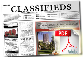 Click to Download the Classifieds as a PDF