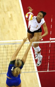 Sweet 16 · Alex Jupiter lead USC with 16 kills on Thursday. - Eric Wolfe | Daily Trojan
