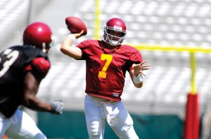 Stage is set · All eyes will be on true freshman quarterback Matt Barkley, especially against a San Jose St. defense known for blitzing. - Eric Wolfe | Daily Trojan