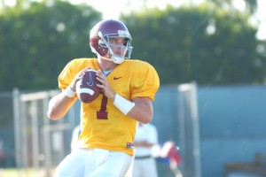 Back to the start · Matt Barkley, whose shoulder injury prevented him from playing in last week's loss, will be back at the helm Saturday. - Johnni Macke   Daily Trojan