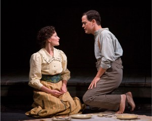 Deep South · Lara Pulver and and Grey's Anatomy's T.R. Knight star as husband and wife in Parade, now playing at the Mark Taper Forum. The musical's dark themes and minimalist design makes it a standout. - Photo courtesy of Craig Schwartz