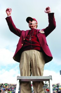 His forte · Art Bartner, director of the Trojan Marching Band, has been with the Spirit of Troy for 40 years and has led the band through 16 Rose Bowls and two platinum albums. - Dieuwertje Kast | Daily Trojan