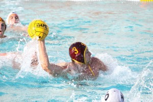 Fast start · Senior two-meter J.W. Krumpholz got USC on the board early in the Trojans' 7-6 victory against Cal in the SoCal Tournament final. - Katelynn Whitaker   Daily Trojan