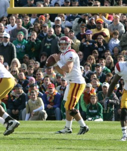Heisman hopeful? · Matt Barkley's 380 yards and two touchdowns against Notre Dame got the attention of some Heisman Trophy voters. - Dieuwertje Kast | Daily Trojan
