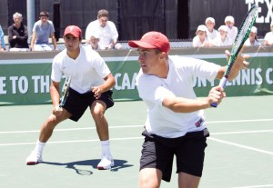 Repeat champs · Robert Farah and Steve Johnson won the doubles title Sunday at the Wilson/ITA Southwest Regionals for the second time. - Gabe Chmielewski / USC Sports Information