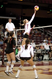 Experienced veteran · USC will be banking on production from senior outside hitter Jessica Gysin. - Ian Elston | Daily Trojan