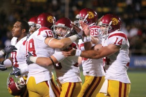 Well-earned rest · After celebrating their easy victory over Cal,  the Trojans answered a lot of questions, columnist Grant Tunkel writes. - Dieuwertje Kast | Daily Trojan