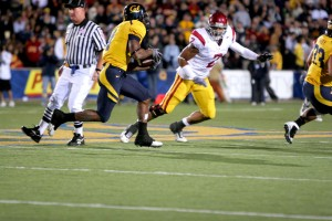 Artist in cleats · USC safety Taylor Mays left fans awestruck with his play last Saturday against Cal, columnist Pedro Moura writes. - Dieuwertje Kast | Daily Trojan