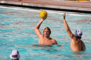 Sharing the ball · Senior two-meter Shea Buckner leads the Trojans in goals, but the USC men's water polo team's scoring is well distributed. - Katelynn Whitaker | Daily Trojan