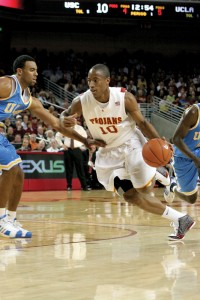The next level · Former Trojan DeMar DeRozan, pictured playing against UCLA last year, always knew how to keep the mood light in the USC locker room. DeRozan is now a rookie on the NBA's Toronto Raptors. - Dieuwertje Kast | Daily Trojan