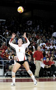 Senior leader · Alli, the older Hillgren, has been a constant influence on the USC women's volleyball team and on her younger sister's life. - Mike Lee | Daily Trojan