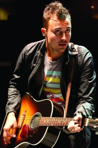 Frayed not · Joe King of The Fray perform at the Galen Center Thursday. - Nathaniel Gonzalez | Daily Trojan