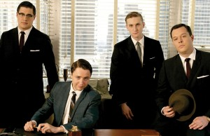 Sterling Cooper · (from left) Vincent Kartheiser, Aaron Staton and Rich Sommer star as members of a New York City ad agency in the award-winning drama series Mad Men. The series ended its third season Sunday. - Photo courtesy of AMC