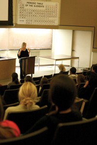 Advocate · Activist Kay Warren spoke to a group of 50 students in Seeley G. Mudd Wednesday night about her fight against AIDS and HIV. - Amaresh Sundaram Kuppuswamy | Daily Trojan