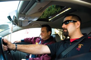 Hitch a ride · USC employees Pete Marzocchetti (right) and Joe Nichols, who share a ride to and from their campus, used Zimride, a new carpool community, to meet each other. - Young Kim | Daily Trojan
