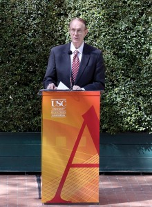 Character · Deans of USC's undergraduate, graduate and professional schools said they will miss President Steven B. Sample's characteristic jokes at the beginning of his speeches. - Mike Lee | Daily Trojan