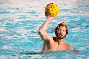 All out · Senior driver Matt Sagehorn and the USC men's water polo team beat the Cardinal 9-7 in a do-or-die MPSF tournament match. - Katelynn Whitaker | Daily Trojan