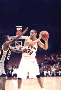 Glory days · David Bluthenthal was a key contributor for USC's men's basketball team when it made the Elite Eight in 2001. - Photo courtesy of USC Sports Information