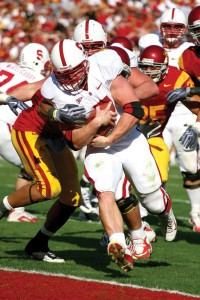 Heavy load · Running back Toby Gerhart plows through the USC defense for one of his three touchdowns in Stanford's 55-21 victory. - Tim Tran | Daily Trojan