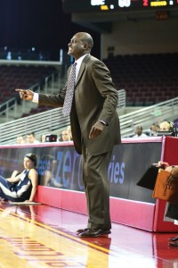 Finding their way · Coach Michael Cooper and the USC women's basketball team has lost two of their first three games to open the season, but the new head coach is happy with the intensity level the team has shown. - Tim Tran | Daily Trojan