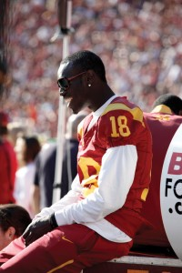 Sitting this one out · The injury that kept wide receiver Damian Williams out of last week's game may be worse than originally thought. - Mike Lee | Daily Trojan
