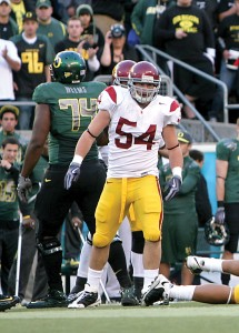 Under repair · Linebacker Chris Galippo, who did not practice Monday due to a neck injury, is one of many Trojans sidelined after the weekend. - Dieuwertje Kast | Daily Trojan
