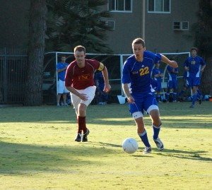 Just short · The USC men's club soccer team lost to UCLA 1-0 Oct. 22 at McAlister Field. The Trojans have just two wins since moving into the premier league, but optimism continues to build for the popular club. - Alejandra Vargas-Johnson | Daily Trojan