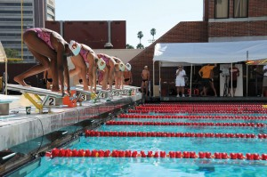 On your marks · After a good showing at its opening meet against Oregon State, the USC swimming and diving team is ready to dive into the rest of its Pac-10 season. The team faces the Arizona schools next week. - Eric Burse | Daily Trojan