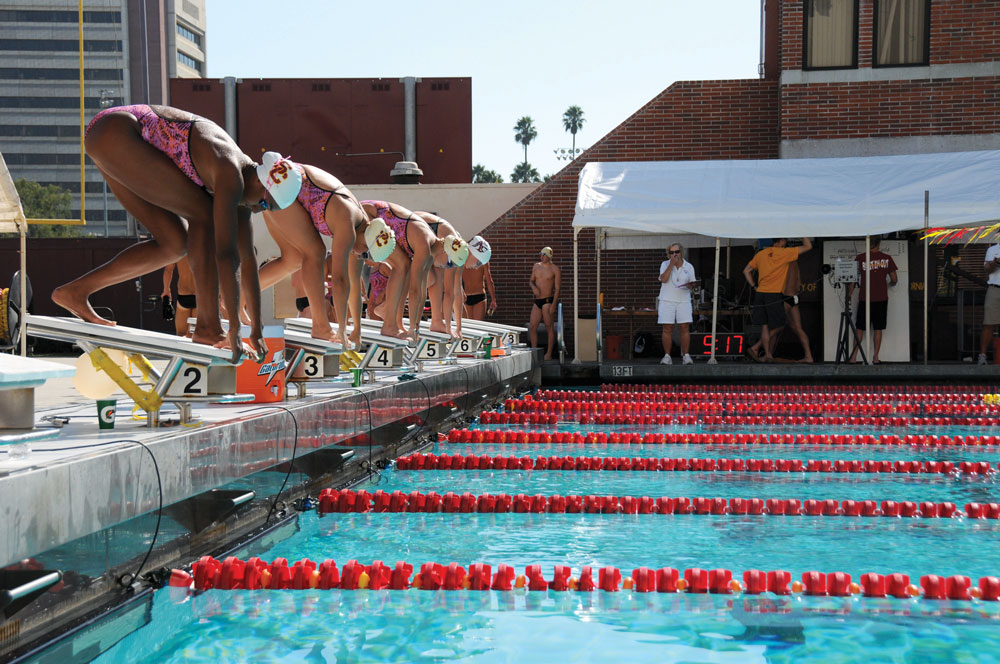On Your Marks · After A Good Showing At Its Opening Meet Against Oregon  State,