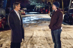 Master shot · Academy Award-nominated director and USC alumnus Jason Reitman (pictured above, right, with George Clooney), follows his 2007 hit Juno with Up in the Air, a dramedy starring Clooney and Anna Kendrick. - Photo courtesy of Paramount Pictures