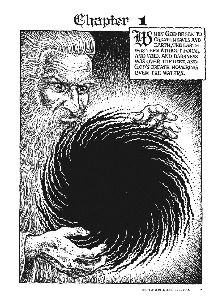 In the beginning ? Underground comic book artist R. Crumb's latest project ...
