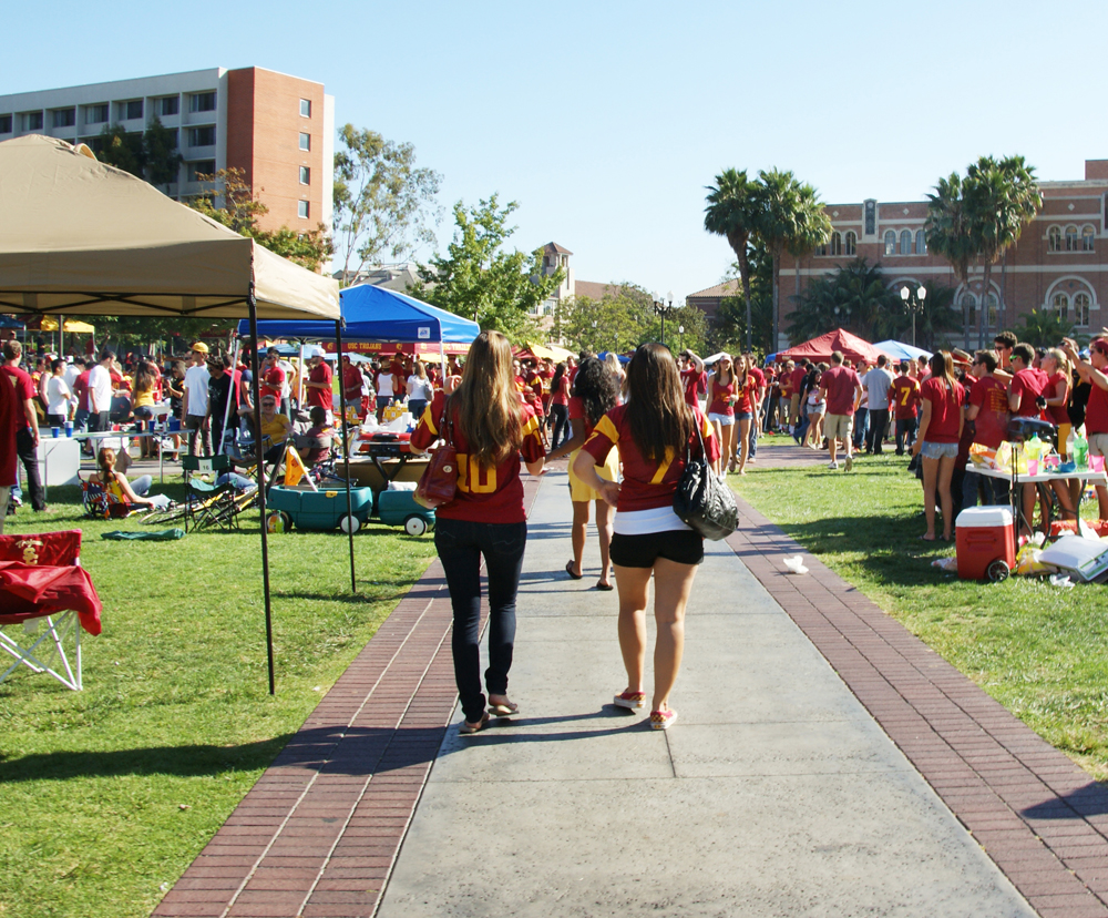 university enforces new tailgating rules for game day daily trojan