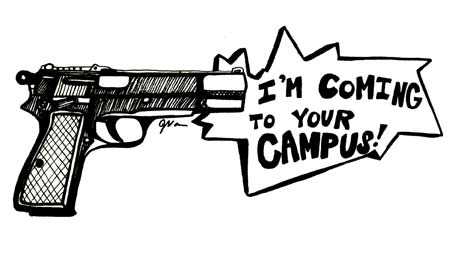 should guns be allowed on college campuses Fox news asks the question should guns be allowed on college campuses in texas, goes over the basic information, and briefly interviews sccc's mike guzman w.