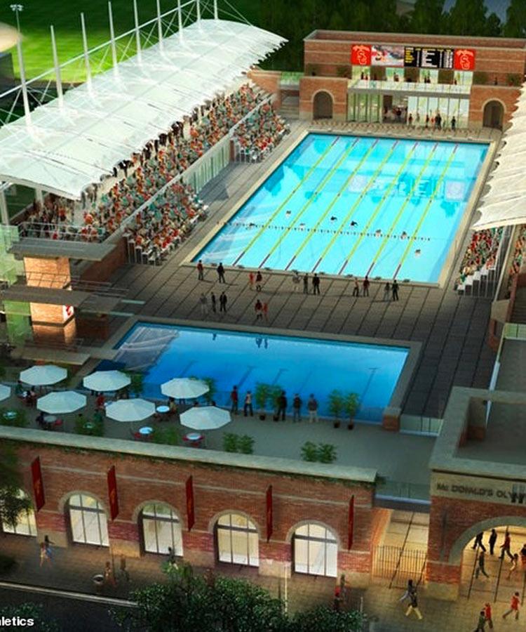 Official Athletic Site Usctrojans >> california tourism info: McDonalds Swim Stadium