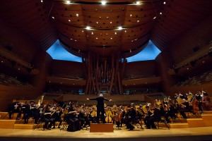 The USC Thorton Symphony Orchestra performed to a full-house on Saturday, playing pieces from Gershwin and Prokofiev, among other legendary composers. — Courtesy of Michael Dowlan