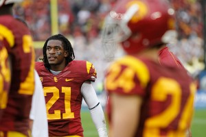 Saying goodbye · USC will have a new-look secondary next season without junior cornerback Nickell Robey and two other starters.  - Carlo Acenas | Daily Trojan