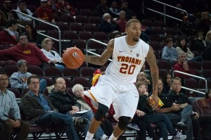 On fire · Junior guard J.T. Terrell finished with 20 points on 7-15 shooting, converting on five out of ten three-point attempts in USC's 98-93 overtime loss against the Arizona State Sun Devils (15-4, 4-2).  - Priyanka Patel | Daily Trojan