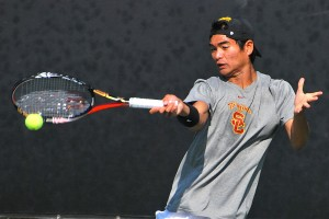 Welcome back · After missing the team's last four matches, junior Ray Sarmiento is expected to return to action as USC's top-ranked player. - Chris Roman | Daily Trojan