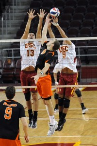 Not quite enough · Two days after a home victory against the No. 2 Stanford Cardinal, the Men of Troy struggled to keep up with the No. 15 Pacific Tigers on Sunday. USC lost the match three sets to one.  - William Ehart | Daily Trojan