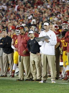 Change of direction · Coach Kennedy Polamalu (above) was fired after three years of serving on head coach Lane Kiffin's staff. - Carlo Acenas | Daily Trojan