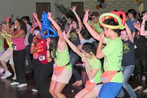 """For the kids · USC students danced the night away in support of local hospitals affiliated with the Children's Miracle Network Dance. The annual 12-hour event had """"theme hours"""" throughout the night, such as the '90s hour. - Karen Pham 